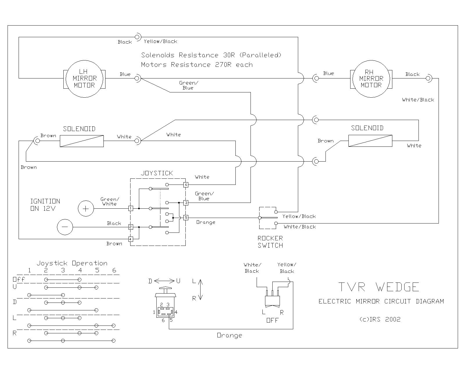 Tvr 390se P7 Joystick Wiring Diagram The Circuit Also Shows Which Wire Should Go To Terminal On Wires Often Get Pulled Off When Rummaging Around Behind Centre Console